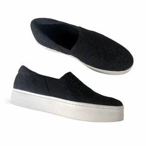 Vince Gray Wool Warren Slip On Sneakers (9.5)